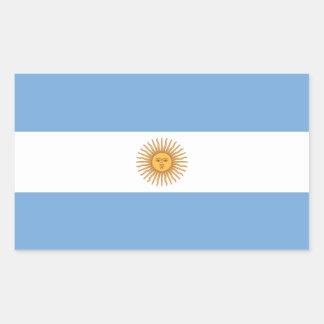 Pegatina del rectángulo de la bandera de la