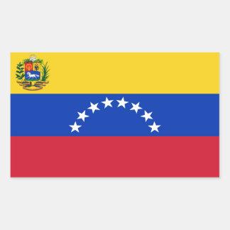 Pegatina del rectángulo de la bandera de Venezuela