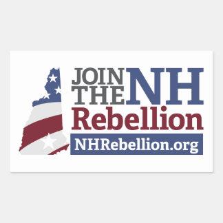 Pegatina del rectángulo de la rebelión del NH