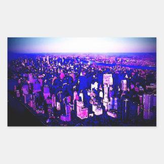 Pegatina del rectángulo de Manhattan New York City