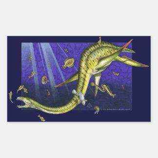 Pegatina del rectángulo de Plesiosaur