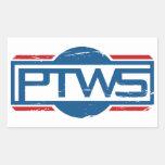 Pegatina del rectángulo de PTWS
