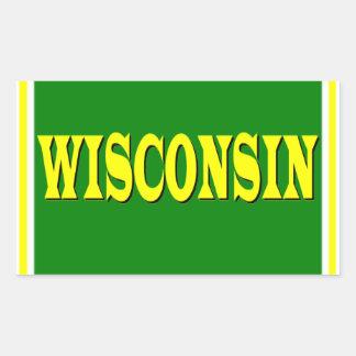 Pegatina del rectángulo de Wisconsin LL