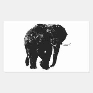 Pegatina del rectángulo del elefante