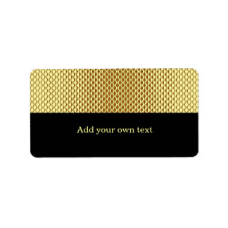 Pegatina del regalo de la etiqueta del negro del b etiqueta de dirección