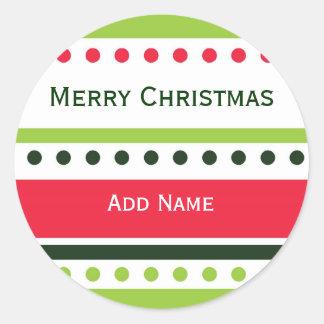 Pegatina del regalo de los puntos del navidad