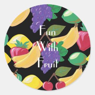 Pegatina del relevo de la fruta
