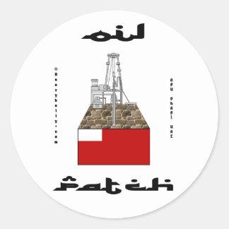Pegatina del remiendo del aceite de Abu Dhabi UAE
