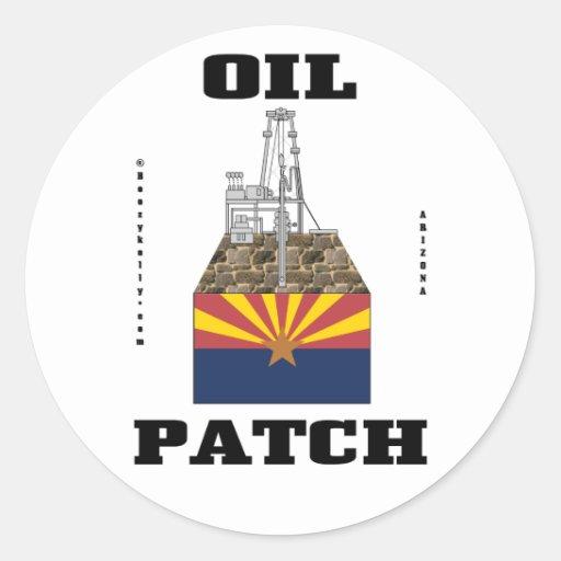 Pegatina del remiendo del aceite de Arizona,