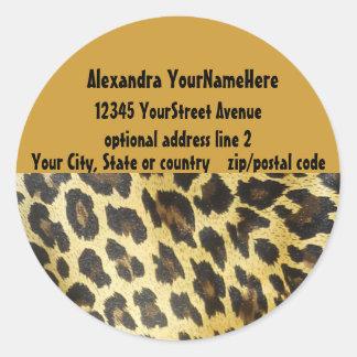 Pegatina del remite del estampado leopardo