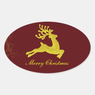 Pegatina del reno de Santas