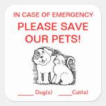 Pegatina del rescate del mascota