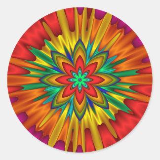 Pegatina del resplandor solar de la flor