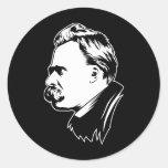Pegatina del retrato de Frederich Nietzsche