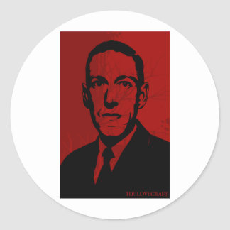 Pegatina del retrato de HP Lovecraft