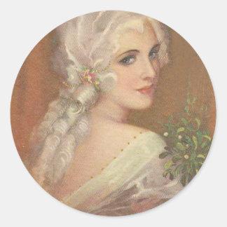 Pegatina del retrato de Marie Antonieta