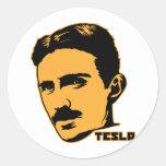 Pegatina del retrato de Nikola Tesla