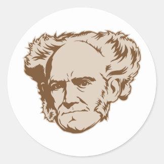 Pegatina del retrato de Schopenhauer