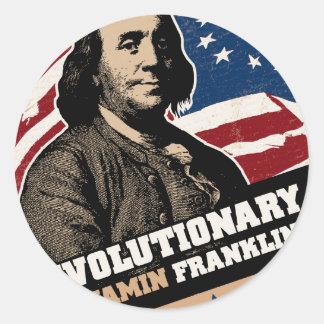 Pegatina del revolucionario de Benjamin Franklin
