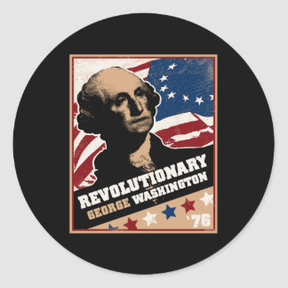 Pegatina del revolucionario de George Washington