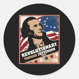 Pegatina del revolucionario de Thomas Jefferson