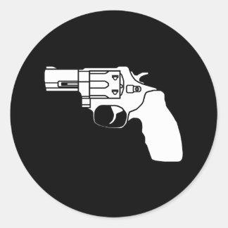 Pegatina del revólver del desaire del blanco y del