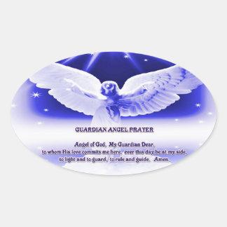 Pegatina del rezo del ángel de guarda