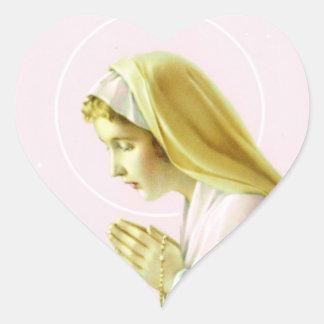 Pegatina del rezo del Virgen María