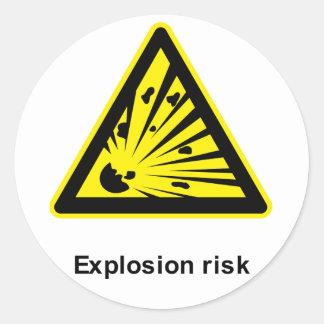 Pegatina del riesgo de explosión