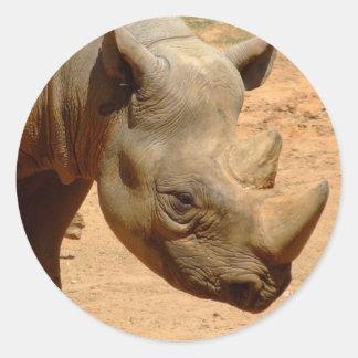 Pegatina del rinoceronte