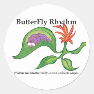 Pegatina del ritmo de la mariposa