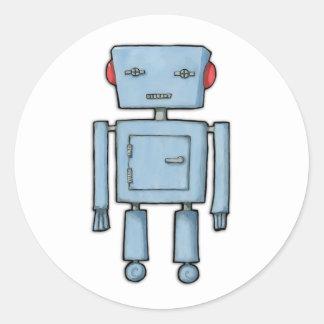 Pegatina del robot del juguete