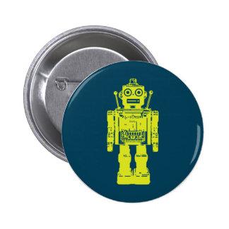 Pegatina del robot pin redondo 5 cm