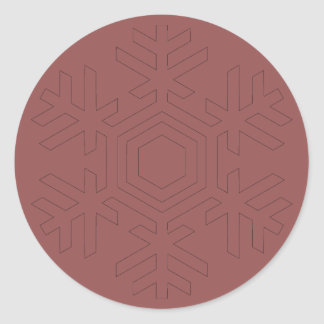 Pegatina del rojo de la escama de la nieve