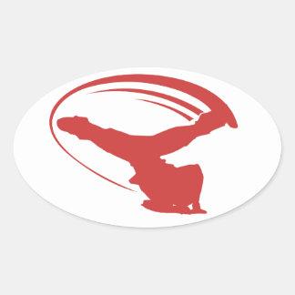 Pegatina del rojo del estilo del molino de viento