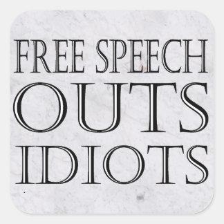 Pegatina del sabotaje del discurso libre