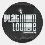Pegatina del salón del platino (negro)