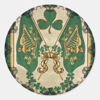 Pegatina del saludo del día de St Patrick