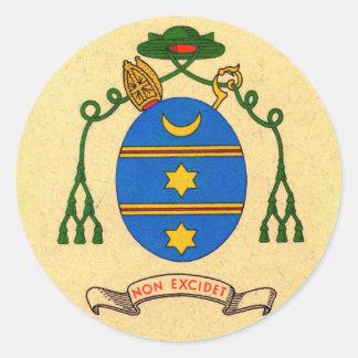 Pegatina del santo patrón del escudo de armas de