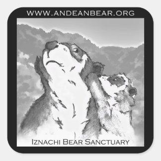 Pegatina del santuario del oso de Iznachi
