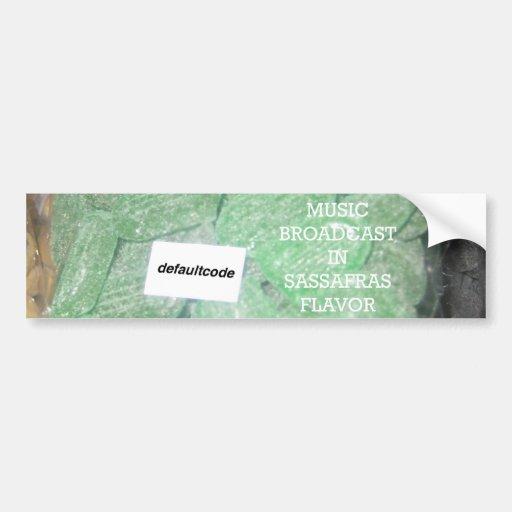 Pegatina del sasafrás etiqueta de parachoque