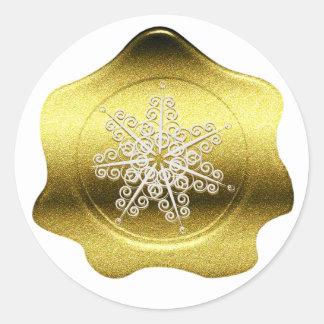 Pegatina del sello de la cera del navidad de la