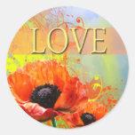 Pegatina del sello del amor del sobre del boda