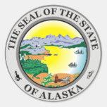 Pegatina del sello del estado de Alaska