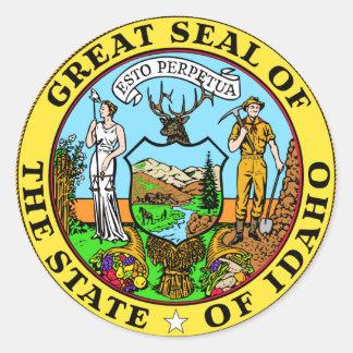 Pegatina del sello del estado de Idaho