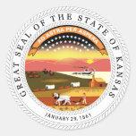 Pegatina del sello del estado de Kansas