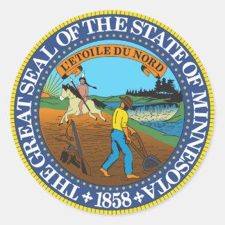 Pegatina del sello del estado de Minnesota