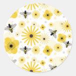 Pegatina del sello del sobre de las abejas y de