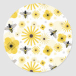 Pegatina del sello del sobre de las abejas y de la
