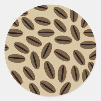 Pegatina del sello del sobre de los granos de café